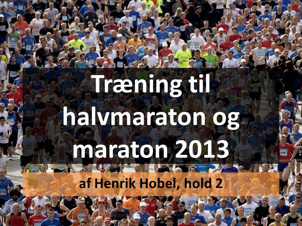 Træning til halvmaraton og maraton 2013