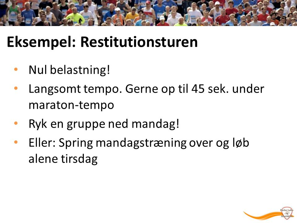 Eksempel: Restitutionsturen