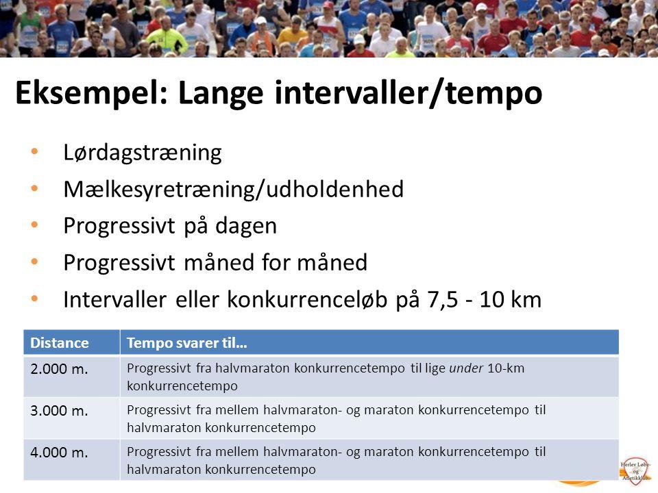 Eksempel: Lange intervaller/tempo