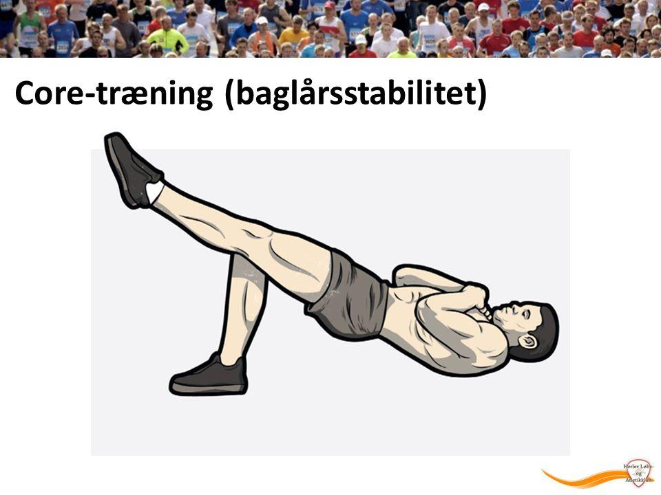 Core-træning (baglårsstabilitet)
