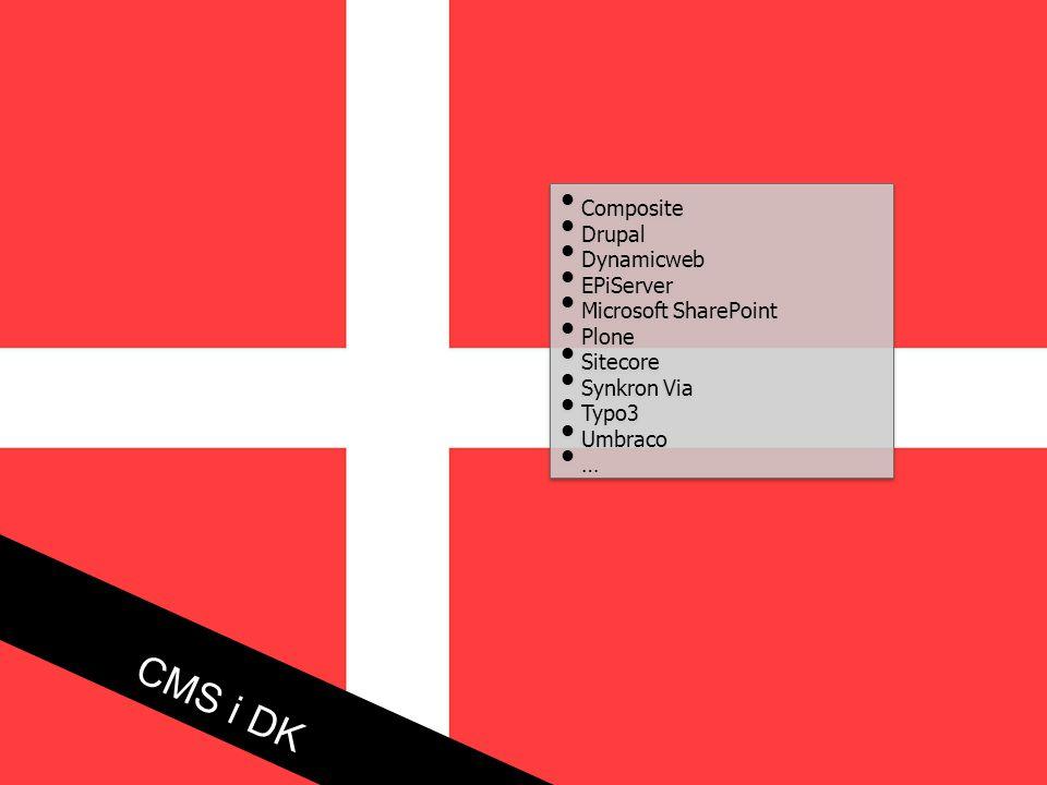CMS i DK Composite Drupal Dynamicweb EPiServer Microsoft SharePoint