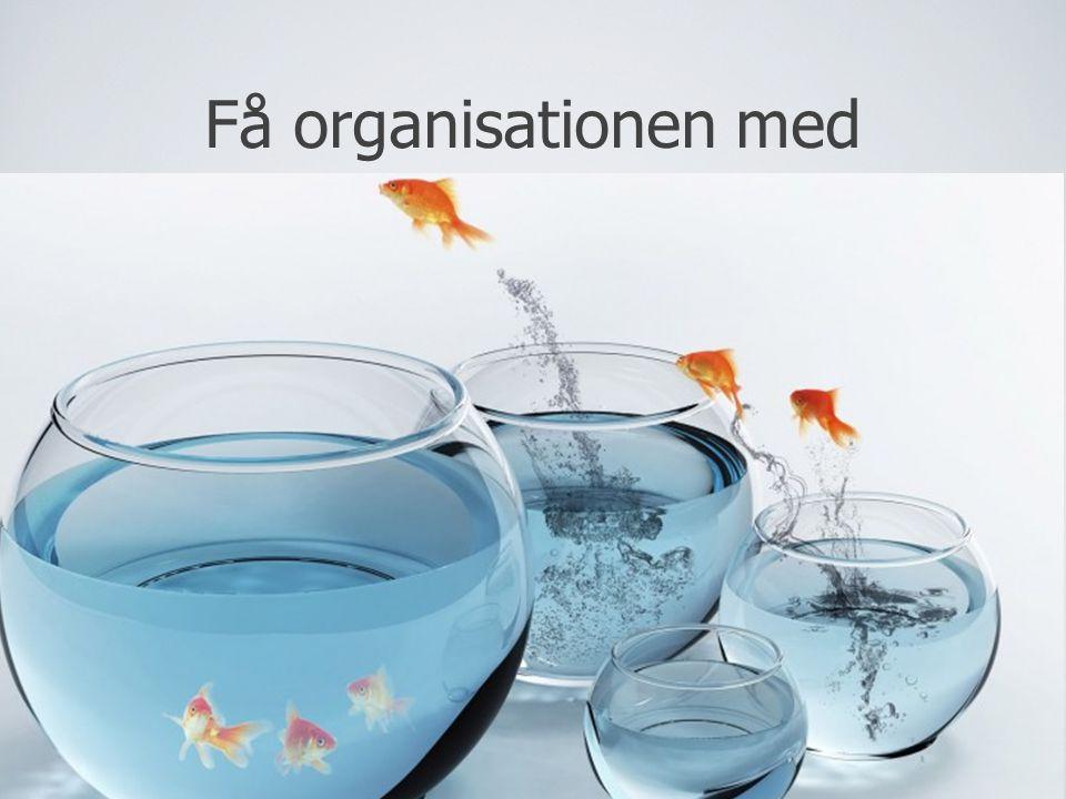 Få organisationen med Hvem skal være med i processen, er der styr på budgettet, kræves der forandringsledelse/kommunikation