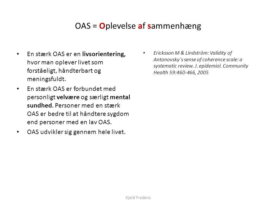 OAS = Oplevelse af sammenhæng