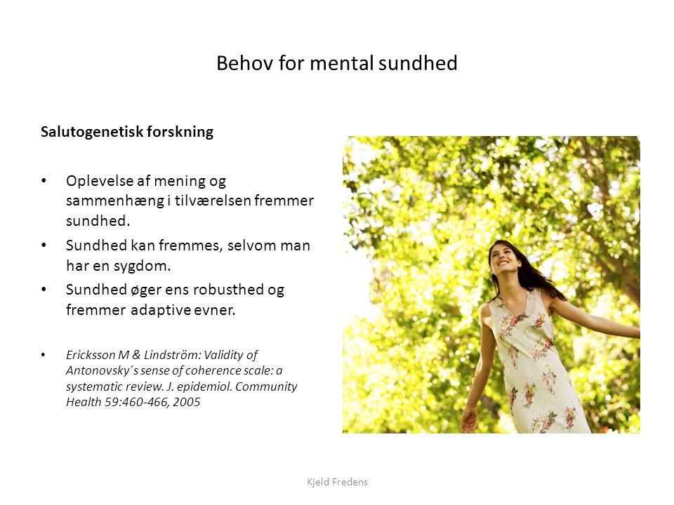 Behov for mental sundhed