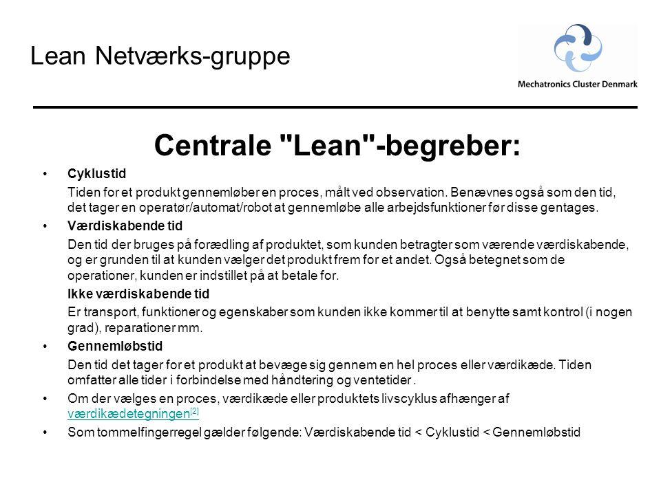 Centrale Lean -begreber: