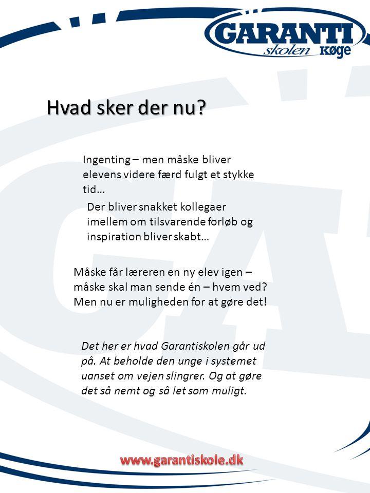 Hvad sker der nu www.garantiskole.dk