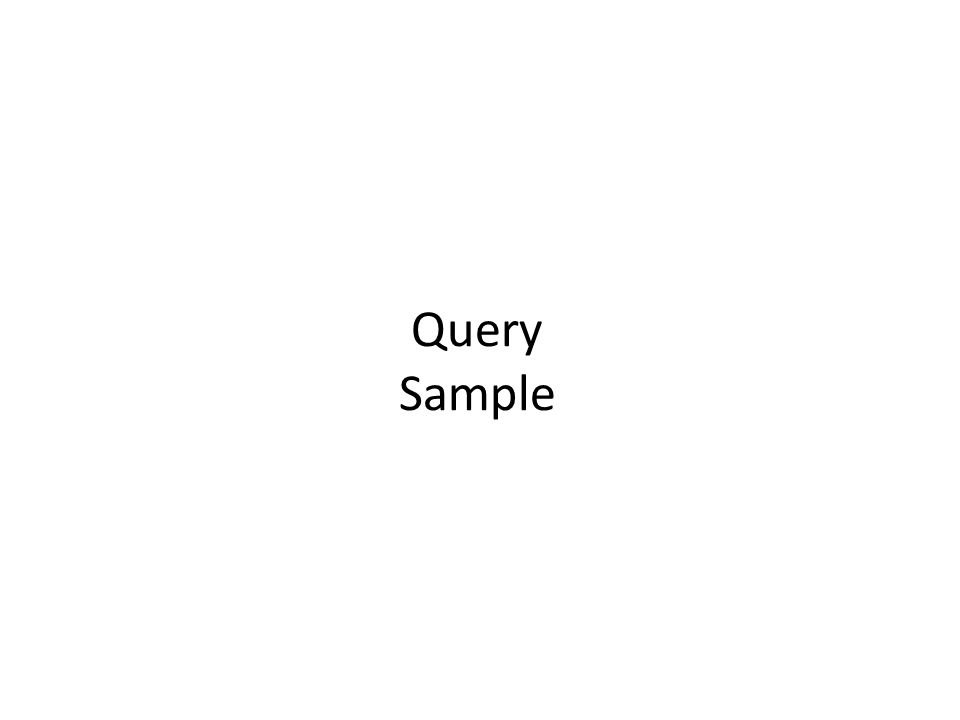 Query Sample