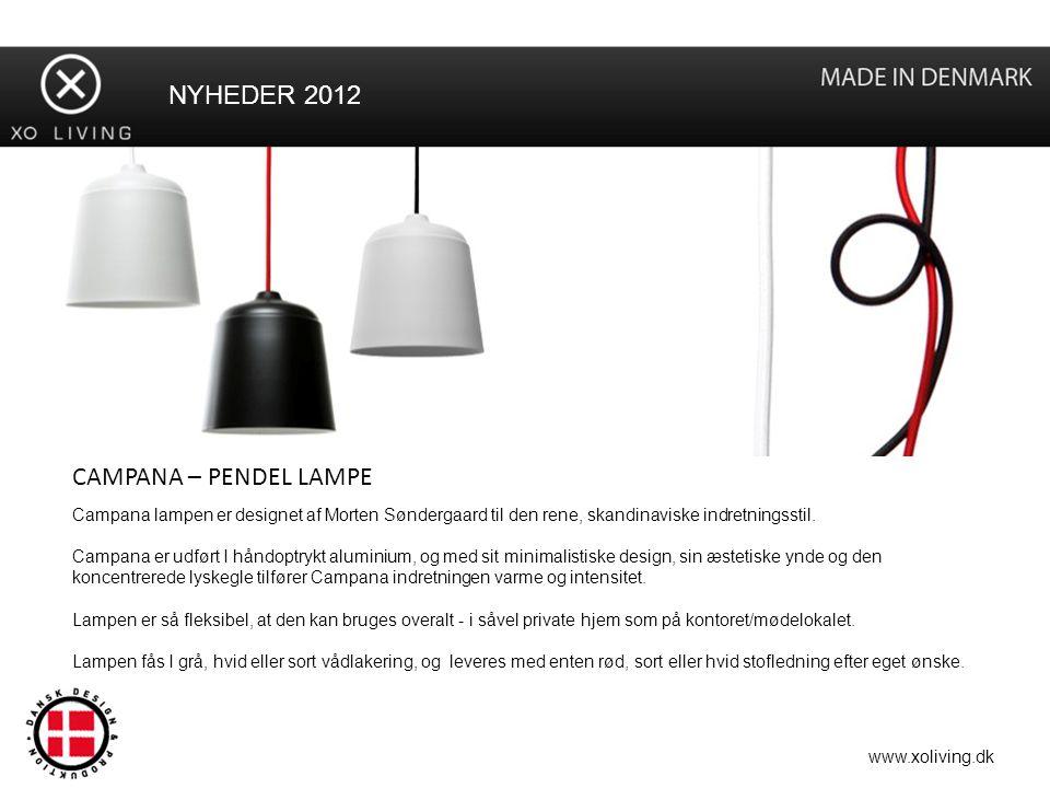 NYHEDER 2012 CAMPANA – PENDEL LAMPE