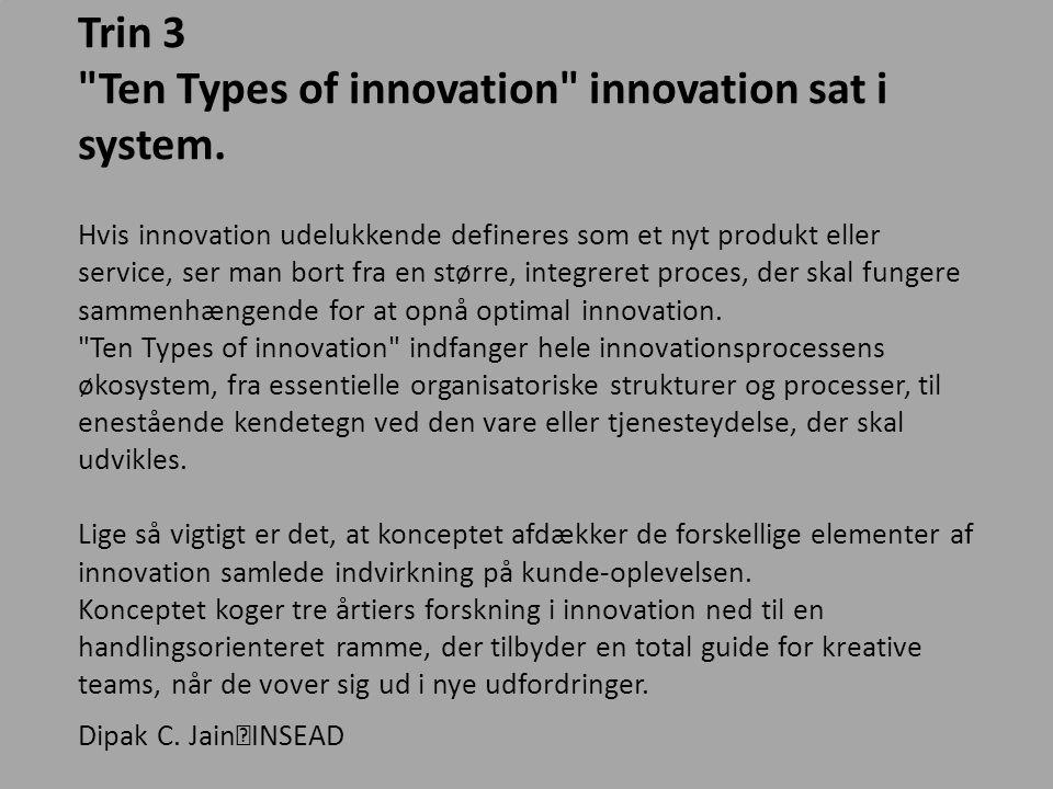 Ten Types of innovation innovation sat i system.