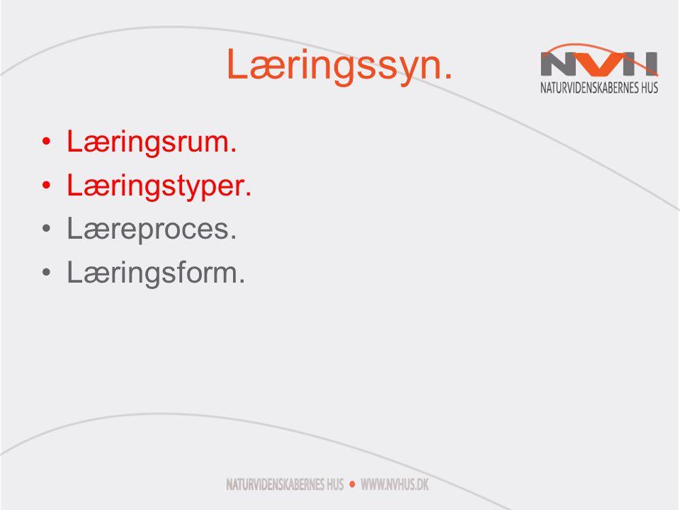 Læringssyn. Læringsrum. Læringstyper. Læreproces. Læringsform.