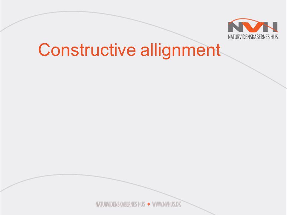 Constructive allignment