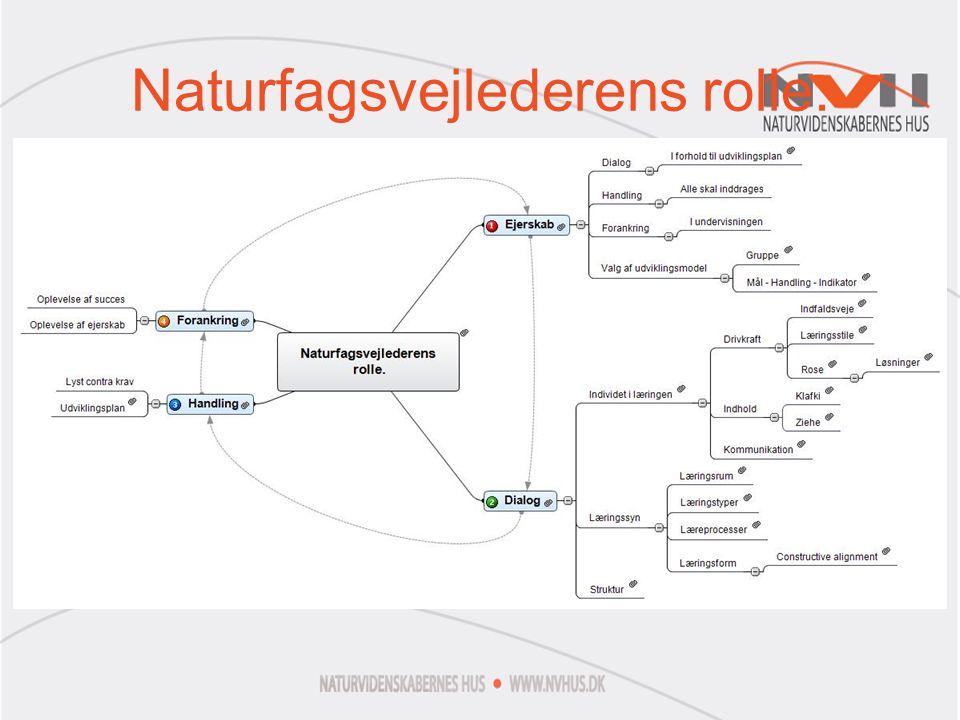 Naturfagsvejlederens rolle.