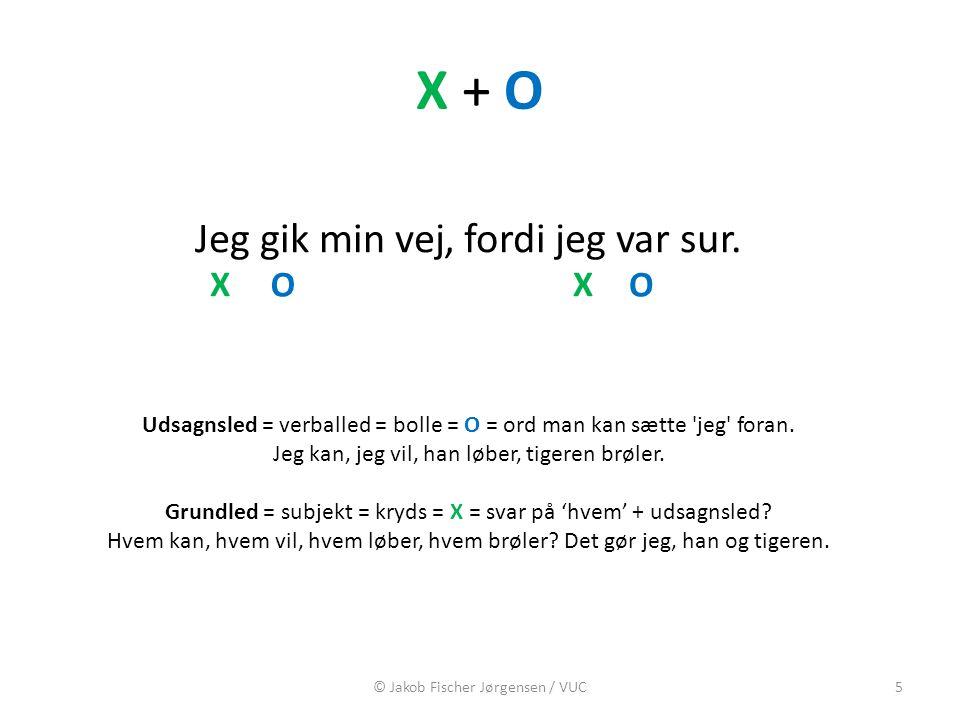 X + O Jeg gik min vej fordi jeg var sur. , X O X O