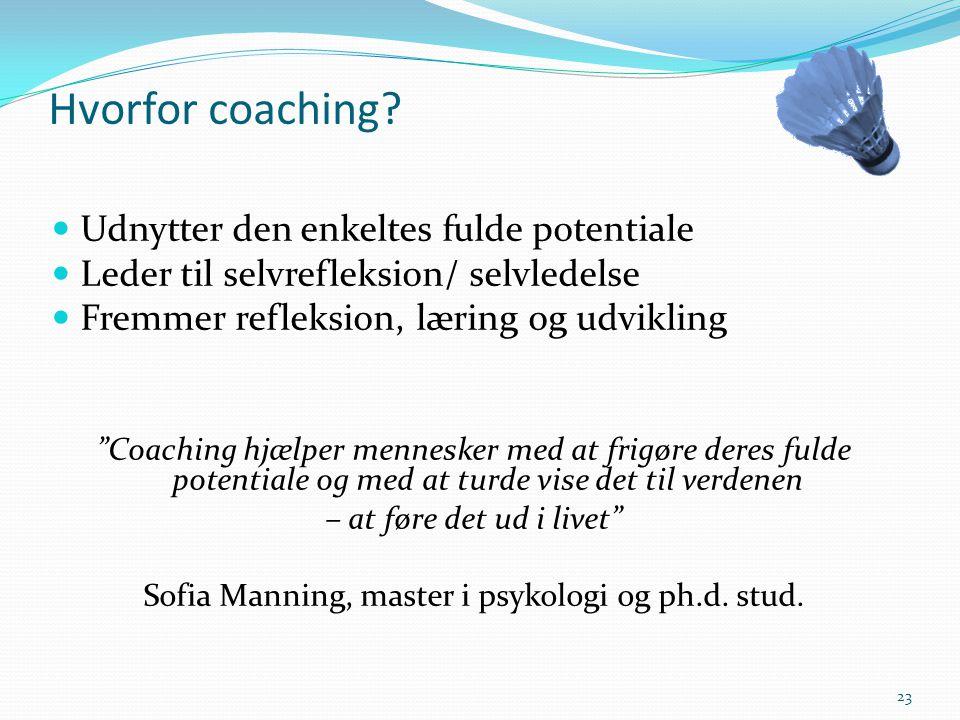 Sofia Manning, master i psykologi og ph.d. stud.