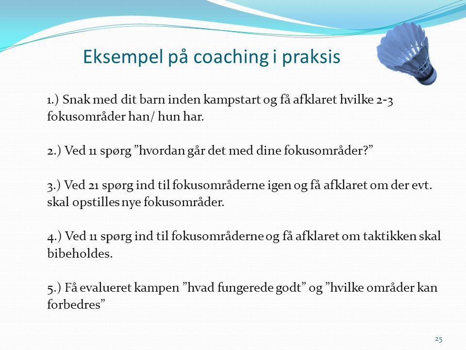 Eksempel på coaching i praksis
