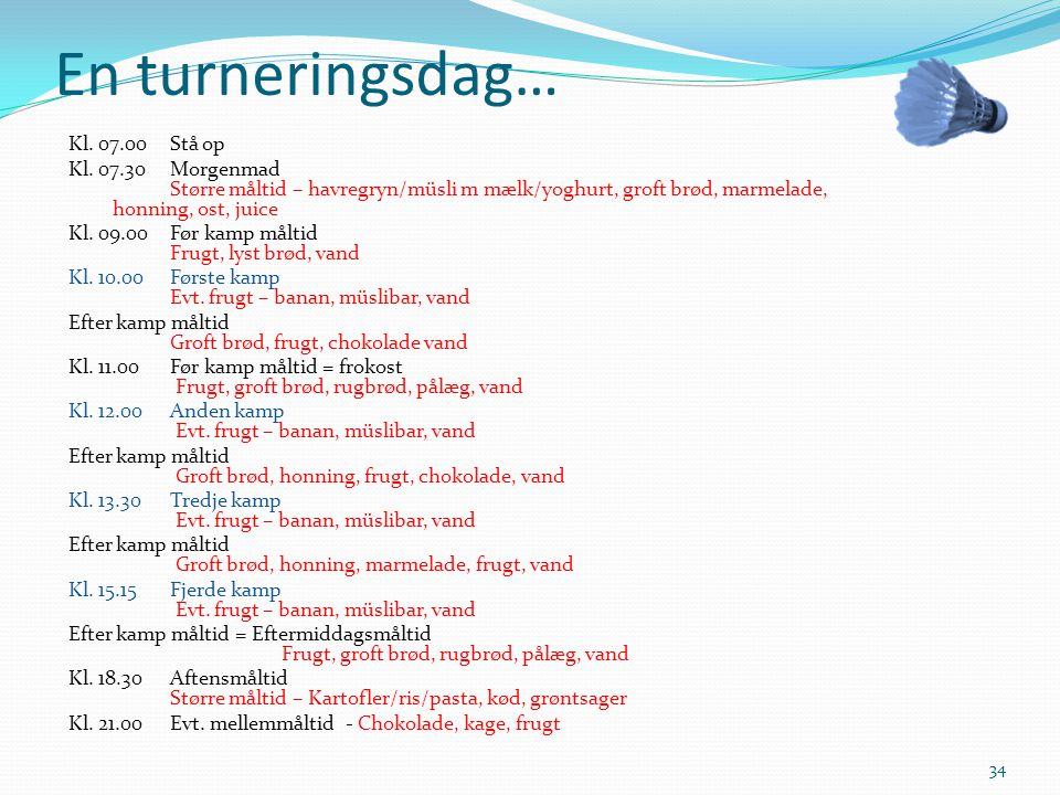 En turneringsdag…