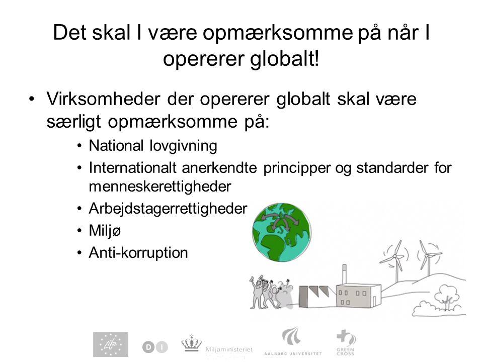 Det skal I være opmærksomme på når I opererer globalt!
