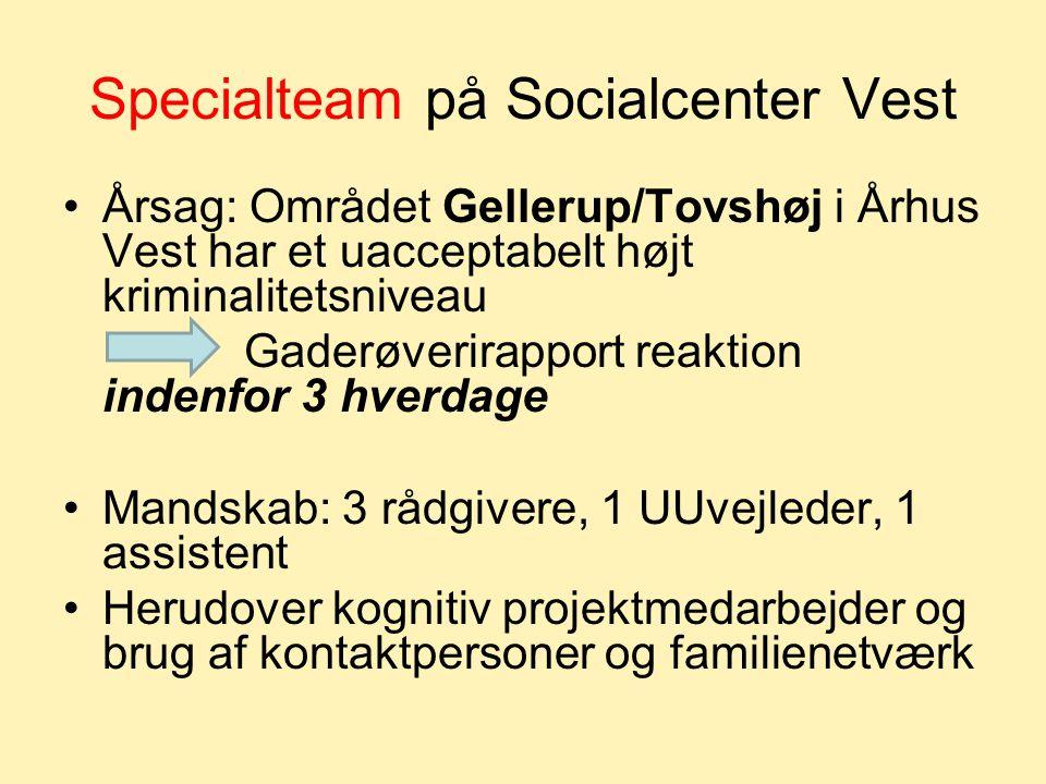 Specialteam på Socialcenter Vest