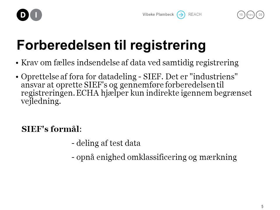 Forberedelsen til registrering