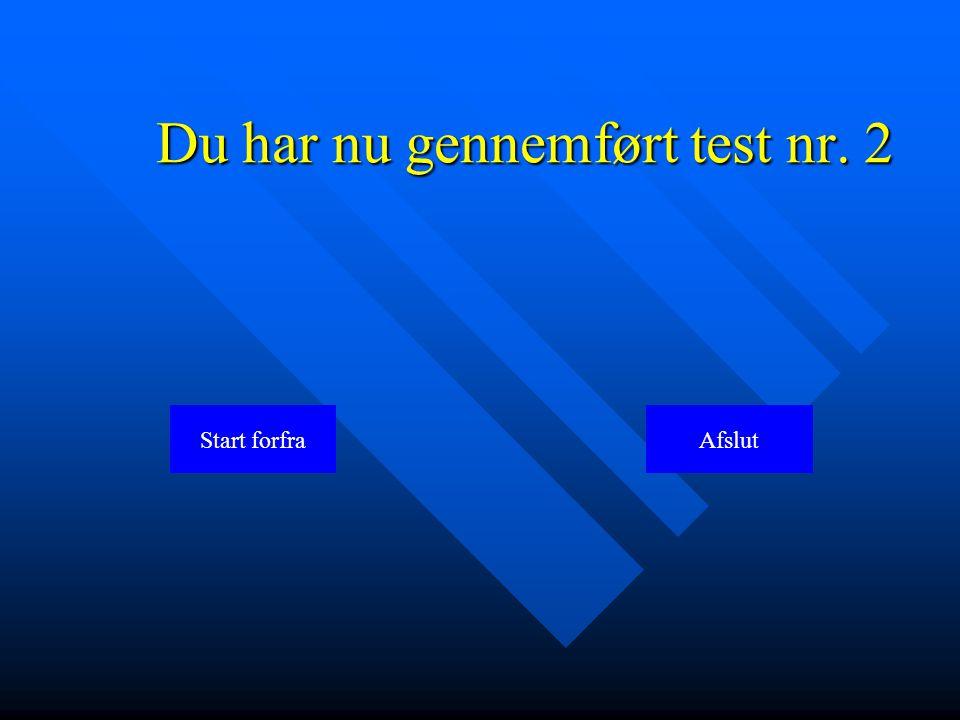 Du har nu gennemført test nr. 2