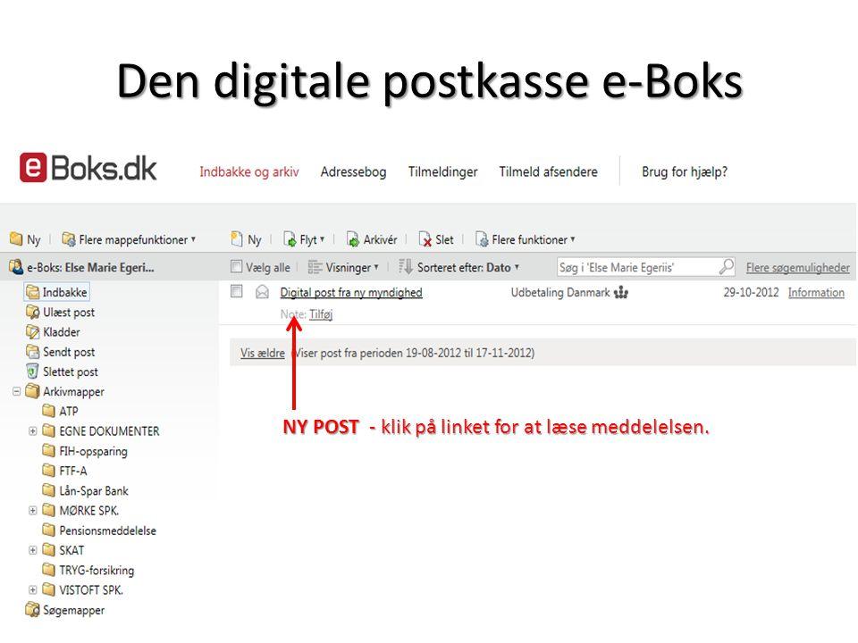 Den digitale postkasse e-Boks