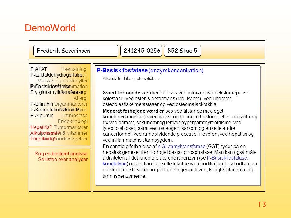 DemoWorld Alkalisk fosfatase, phosphatase Frederik Severinsen
