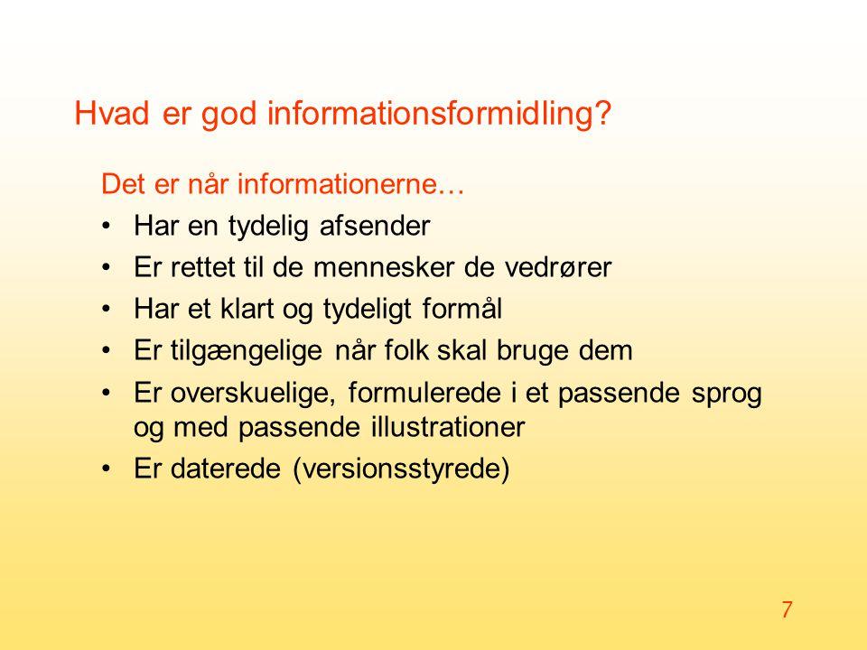 Hvad er god informationsformidling
