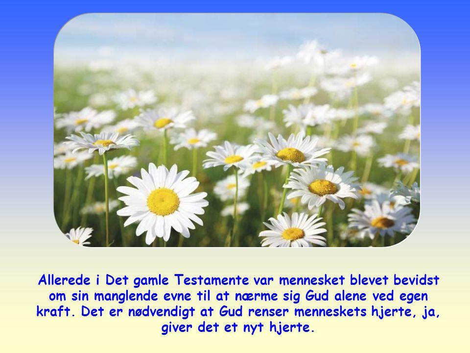 Allerede i Det gamle Testamente var mennesket blevet bevidst om sin manglende evne til at nærme sig Gud alene ved egen kraft.