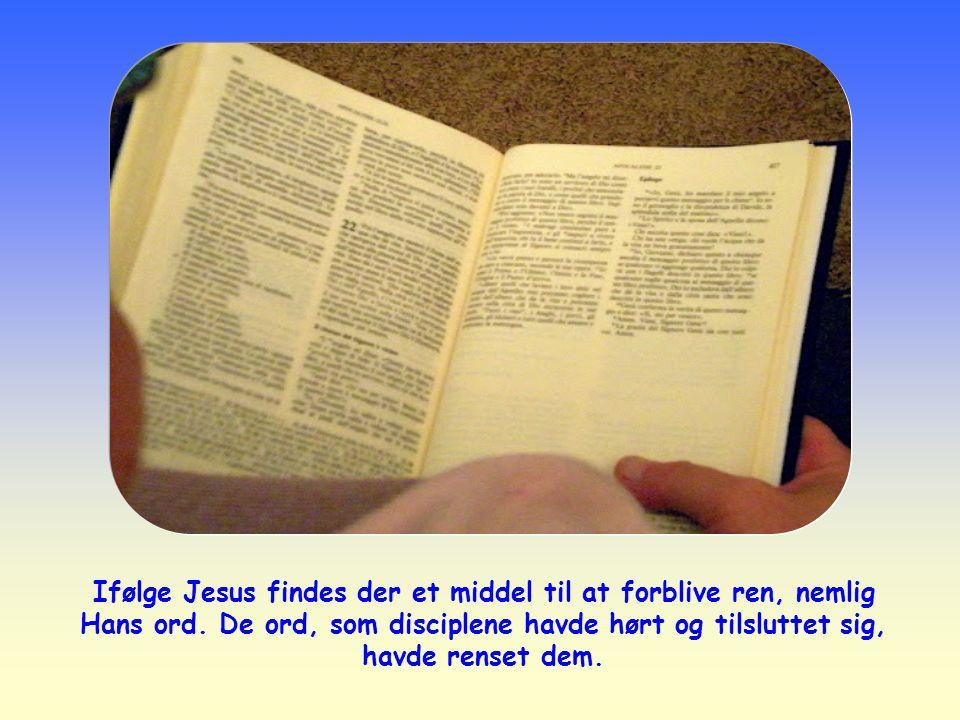 Ifølge Jesus findes der et middel til at forblive ren, nemlig Hans ord