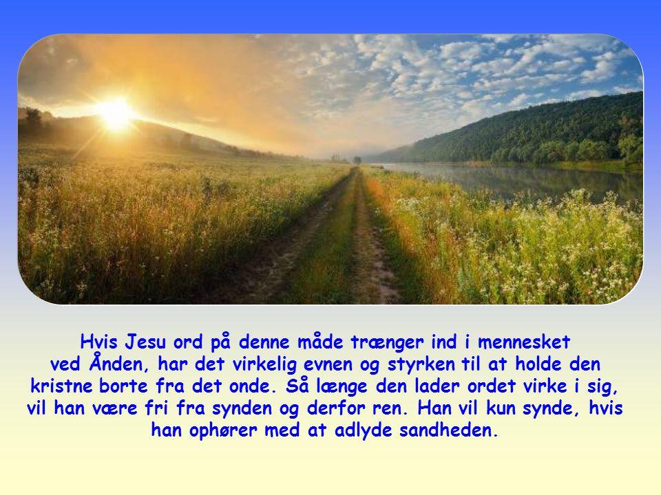 Hvis Jesu ord på denne måde trænger ind i mennesket