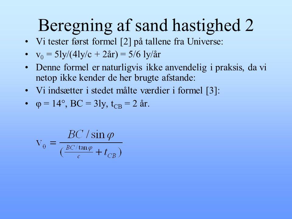 Beregning af sand hastighed 2