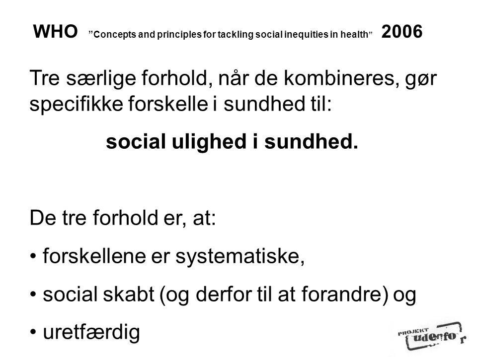 social ulighed i sundhed.