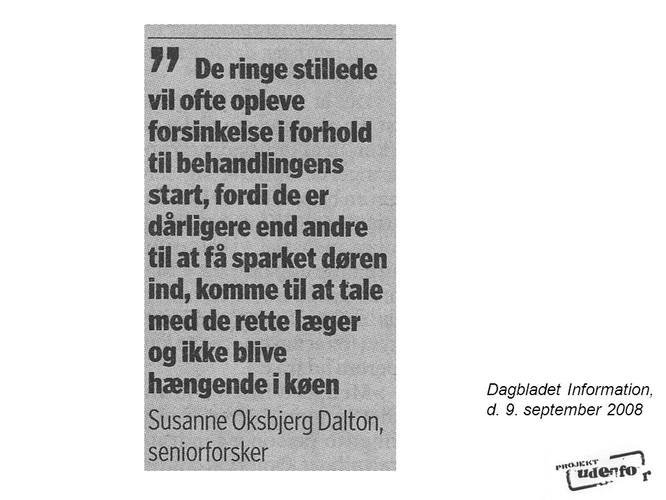 Dagbladet Information, d. 9. september 2008