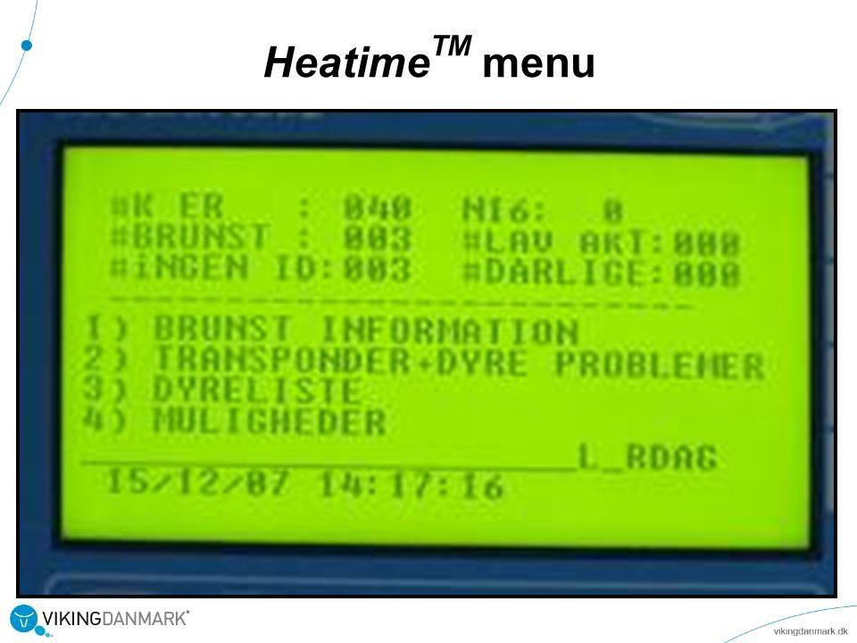 HeatimeTM menu