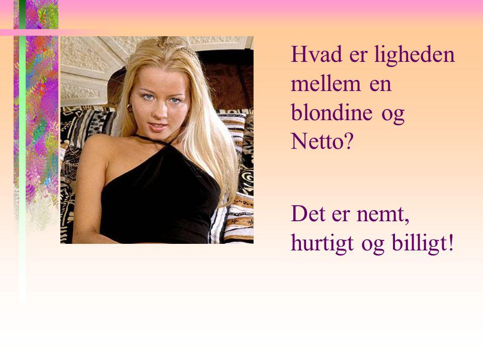 Hvad er ligheden mellem en blondine og Netto