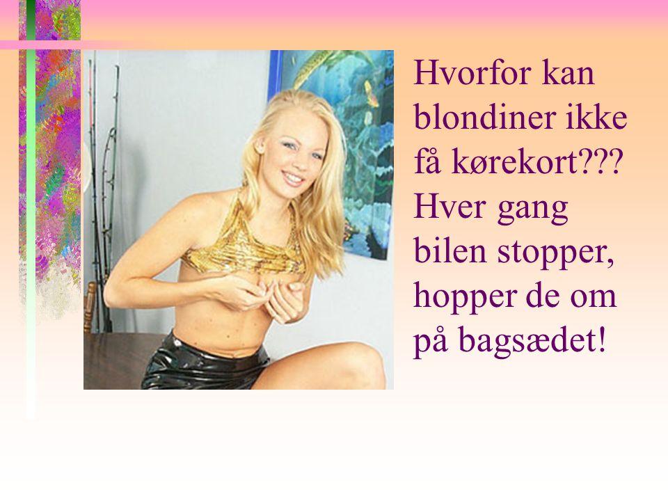 Hvorfor kan blondiner ikke få kørekort