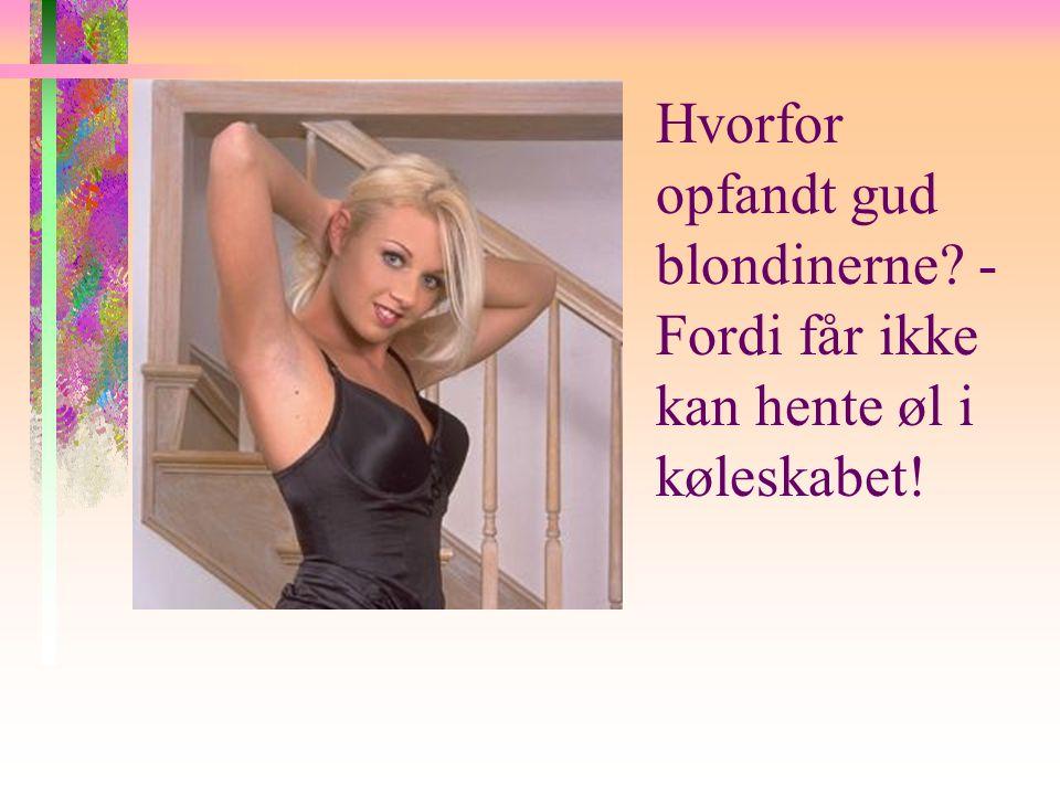 Hvorfor opfandt gud blondinerne