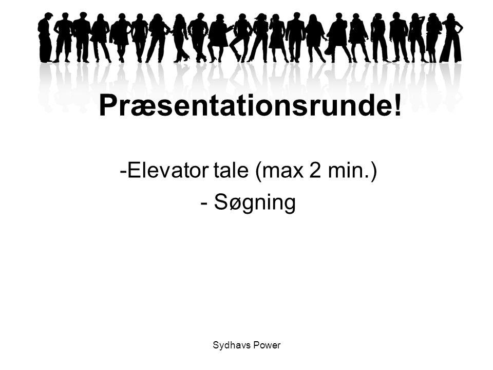 Elevator tale (max 2 min.) Søgning