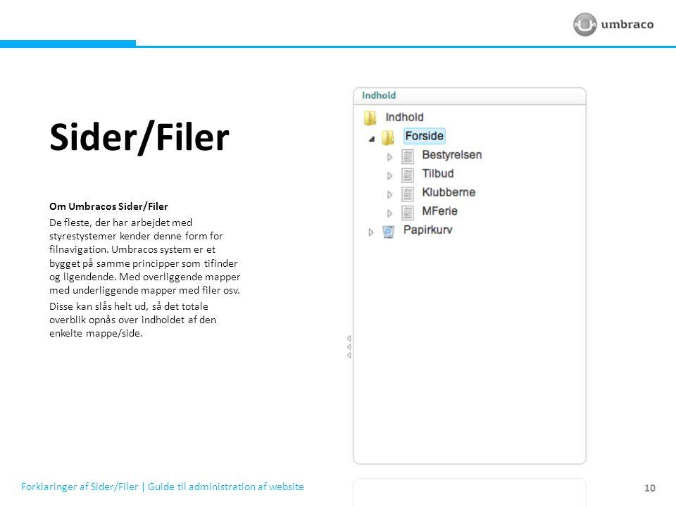 Sider/Filer