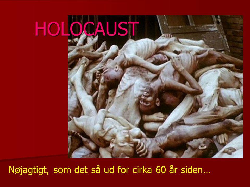 HOLOCAUST Nøjagtigt, som det så ud for cirka 60 år siden…