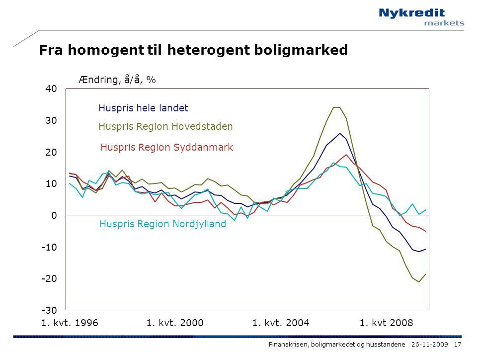 Fra homogent til heterogent boligmarked