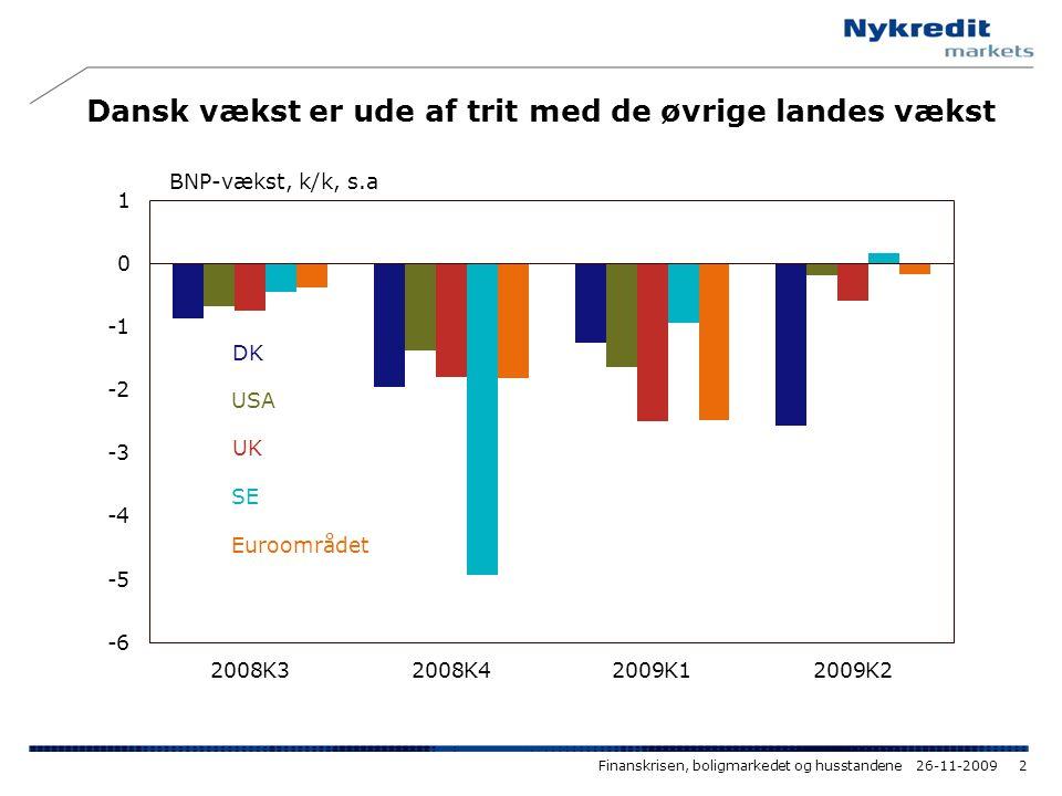 Dansk vækst er ude af trit med de øvrige landes vækst