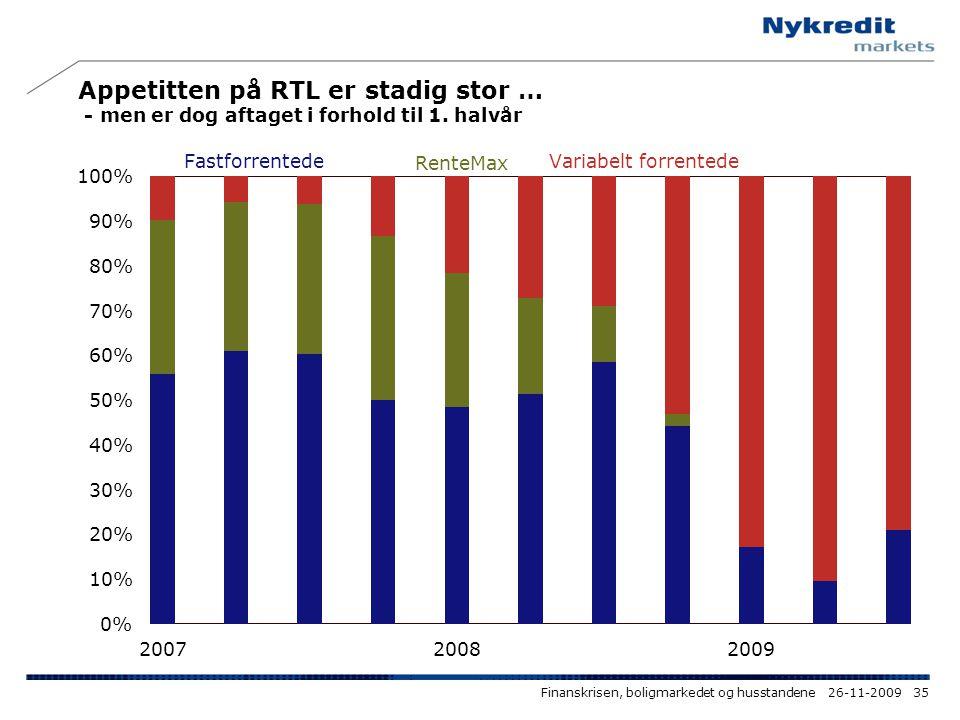 Appetitten på RTL er stadig stor … - men er dog aftaget i forhold til 1. halvår