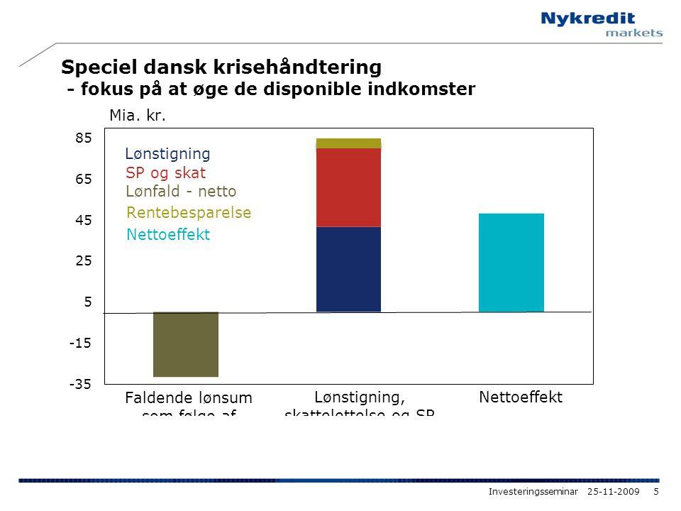 Speciel dansk krisehåndtering - fokus på at øge de disponible indkomster