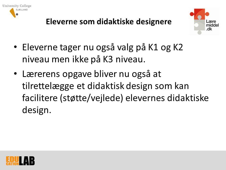 Eleverne som didaktiske designere