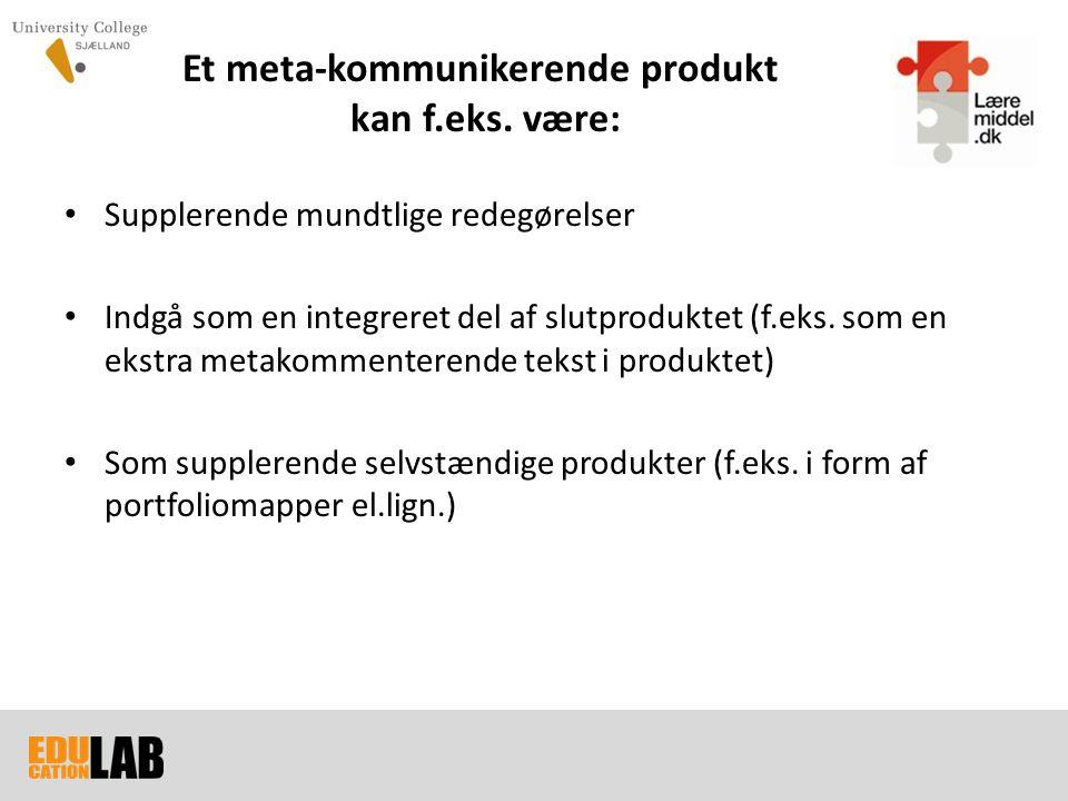 Et meta-kommunikerende produkt kan f.eks. være: