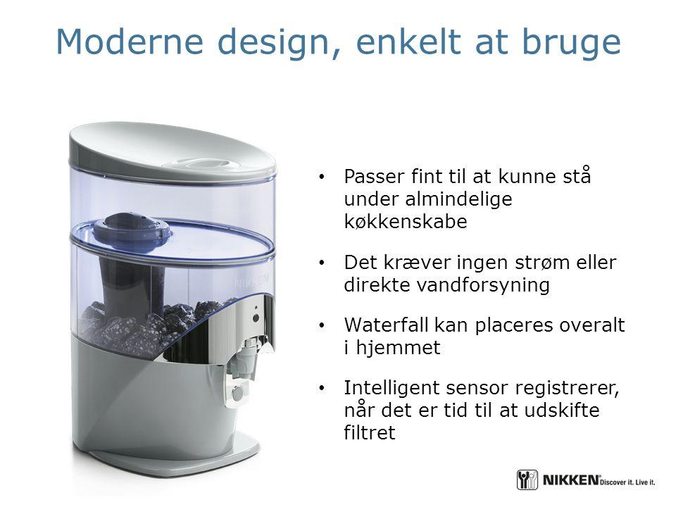 Moderne design, enkelt at bruge