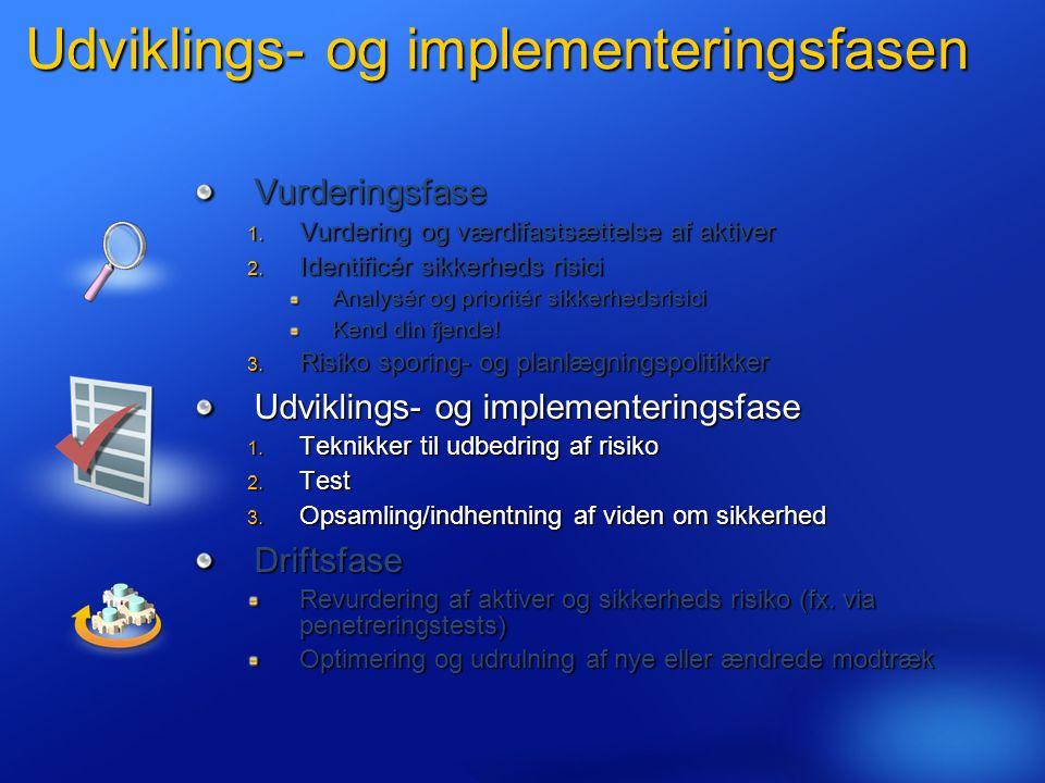 Udviklings- og implementeringsfasen