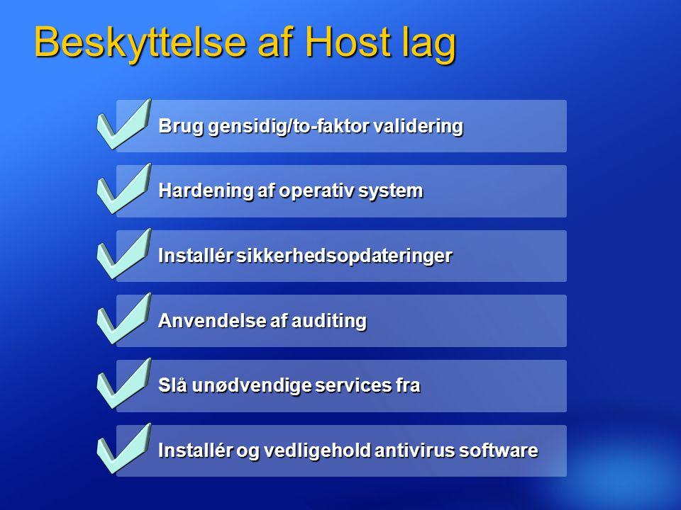 Beskyttelse af Host lag