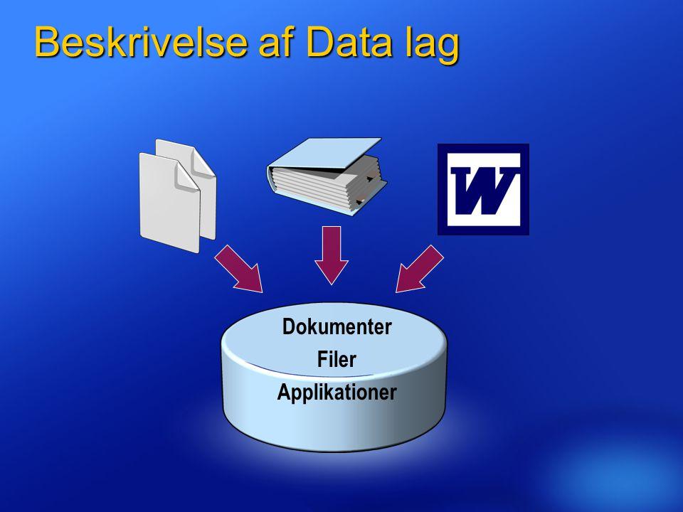 Beskrivelse af Data lag
